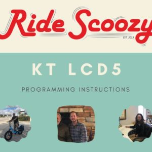 KT LCD5 Programming for E-Joe Swan and Other Electric Bikes in 4K