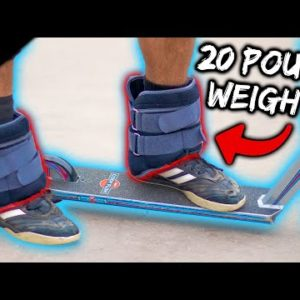 Scootering With 20 Pound Ankle Weights ft. @cody flom